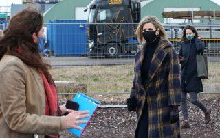 Koningin Máxima bezoekt Huntsman
