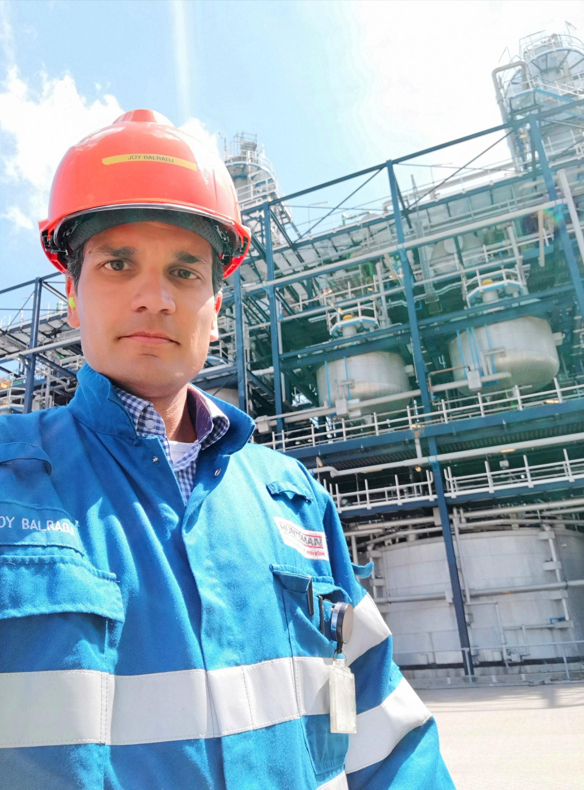 Joy Balradj is process engineer bij Huntsman